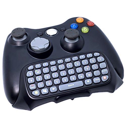 VicTsing Negro Inalambrico Controlador Messenger Teclado Juegos Chat para Xbox 360 [Importado]
