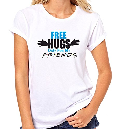 Crazy Sutra Half Sleeve Casual Printed FRIENDS Unisex Boy's/Girl's/Men's/Women's Tshirt |Funky Tshirts [T_FreeHugs_M_W]