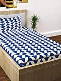 Story@Home Fantasy 1 Pc Collection 120 TC 100% Cotton Blue 1 Single Bedsheet with 1 Pillow Cover