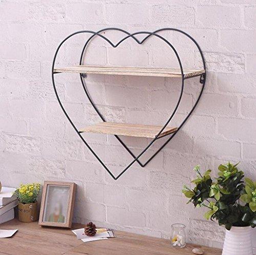 Tang chao mensola retro peach iron shelf soggiorno woodiness wall bookshelf camera da letto in legno massello hanger creative ripiani
