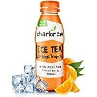 Charbrew Peach & Orange Iced Tea (12 x 400ml Bottles) Only 80 Calories Per Bottle