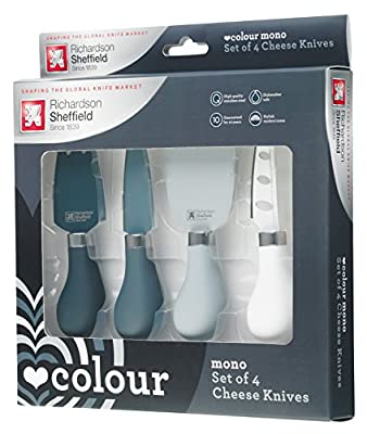 Richardson Sheffield Love Colour Mono Cheese Knife Set, Stainless Steel, Monochrome, 20.5 x 21.5 x 35.5 cm