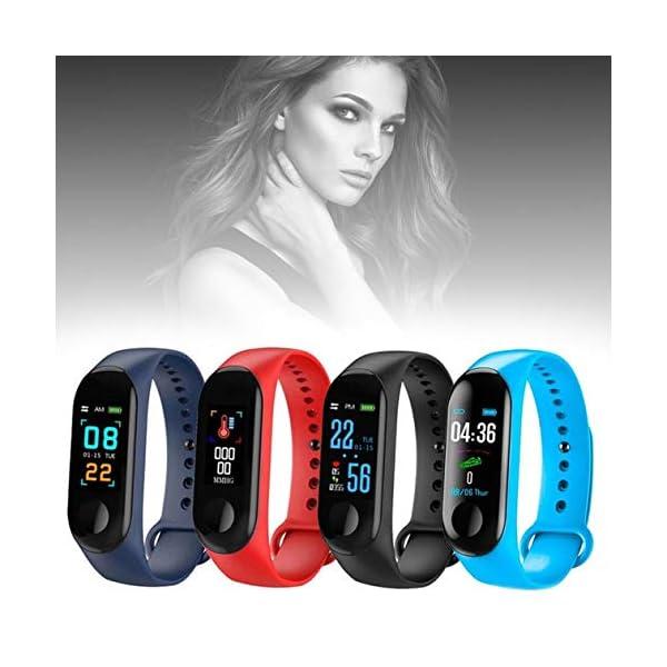 BIYI M3 Unisex Health Tracker Smart Band Reloj Pulsera Pulsera Fitness Tracker Monitor Pulsera (Negro) () 2