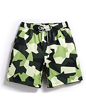 HAIYOUVK Beach Vacation Camouflage Couple Models Beach Pants Men'S Quick-Drying Shorts Spa Pants Boxer Men'S Swim...