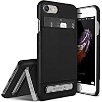 Cover iPhone 7, VRS Design [Simpli Leather][Nero Phantom] - [Premium Portafoglio in pelle][Slim Fit][Kickstand] Per Apple iPhone 7 4.7