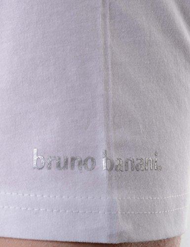 bruno banani Herren Unterhemd, 2er Pack Weiß (Weiß 1)