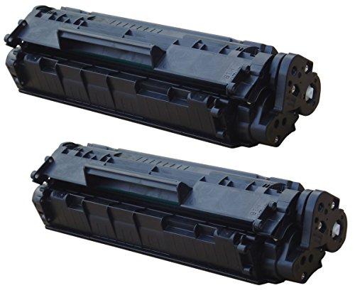 Prestige Cartridge Q2612A Pack de 2 Cartuchos de tóner láser para HP Laserjet 1010, 1012, 1015, 1018, 1020, 1020 Plus, 1022, 1022N, 1022NW, 3010, 3015, 3020, 3030, 3050, 3052, 3055, M1005 MFP, M1319F MFP