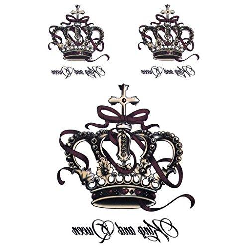 Manyo Abnehmbare Wasserdichte Temporäre Tattoos Body Art Sticker König Und Königin ()