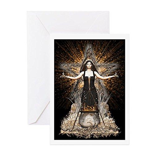 CafePress – Wicca Grußkarte – Spellweaver II – Grußkarte, Notizkarte, Geburtstagskarte, innen blanko, glänzend