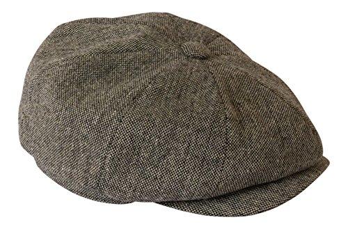 Gamble & Gunn - Béret « Shelby » léger en tweed gris anthracite - Gris - Large
