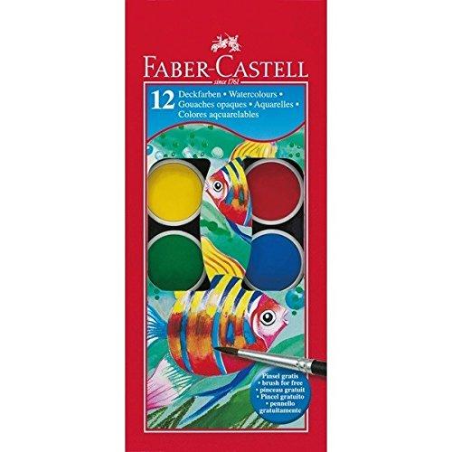 Faber-castell 125012 acquarello, 12 pezzi