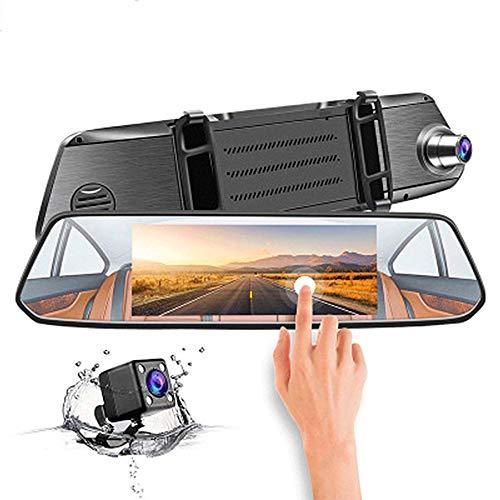 Dual-Objektiv HD 7 Zoll IPS Rearview Mirror Driving Recorder Car liefert Support Reversing Bild 1080P Full HD Night Version G-Sensor Driving Recorder