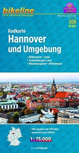 Hannover & env. cycle map GPS r/v wp por Esterbauer Verlag GmbH
