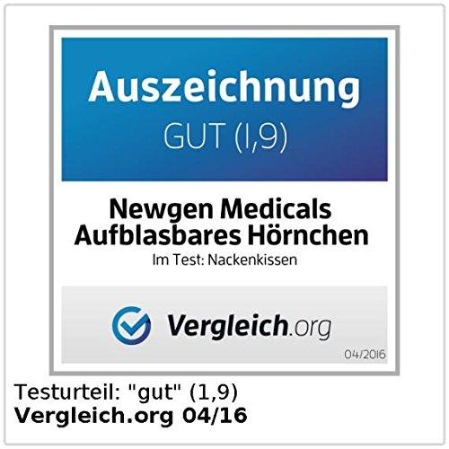 newgen medicals Aufblasbares Nackenhörnchen mit Fleece-Bezug - 5