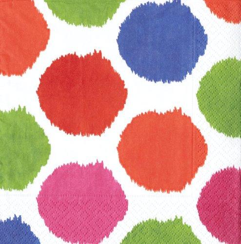 Caspari Bebelle - Juego de servilletas, diseño de lunares, multicolor
