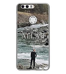 YuBingo Huawei Honor 8 2D Designer Phone Back Case Cover ( Allah is with Me )
