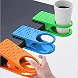 EQLEF® Plastic Drinking Becherhalter -Klipp - Home Office Tisch Schreibtisch