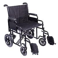 Viva Medi Black Steel Bariatric 22 Transit Wheelchair