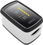 Unionon Pulsiossimetro da Dito Pulsossimetro Professionale Schermo LCD Ossigeno nel Sangue Monitor con Adatto per Famiglia S