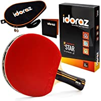 Idoraz Table Tennis Paddle - Professional Ping Pong Racket with Carrying Pouch - ITTF Approved Rubber for Tournament Play