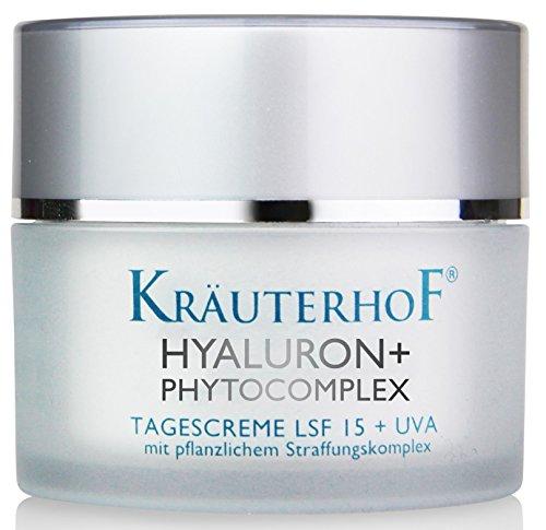 Tagescreme Lichtschutzfaktor LSF 15 UV-Schutz Kräuterhof 30ml Frauen Männer Hyaluronsäure Made in Germany - Herren Bio-gesicht