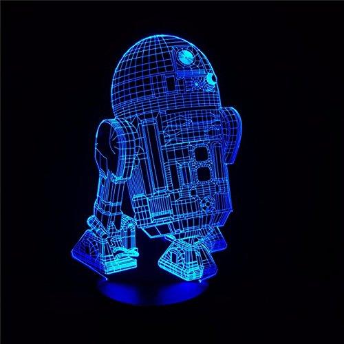 LED Nachtlichter Neue Action Figure 7 Farben für Kinder Freunde Krieg Fans als Schlafzimmer Tisch Schreibtischlampe LHDOVIS ()