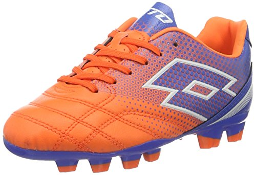 Lotto Spider 700 Xiii Fgt Jr, Chaussures de Football Mixte Bébé Orange (Fant Fl/Blu Shv)