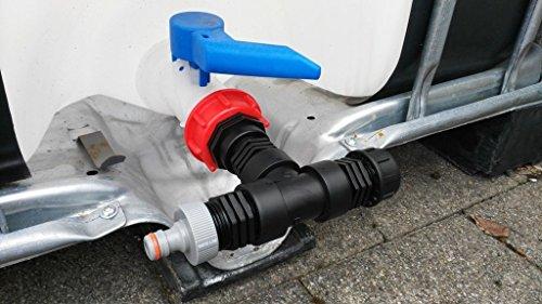 CMTech GmbH Montagetechnik at2909399 Bec Embout S60 x 6 avec prise pour Gardena, IBC Adaptateur de réservoir d'eau de pluie de Accessoires de conteneurs Mamelon de Bidon, tonne, zysterne