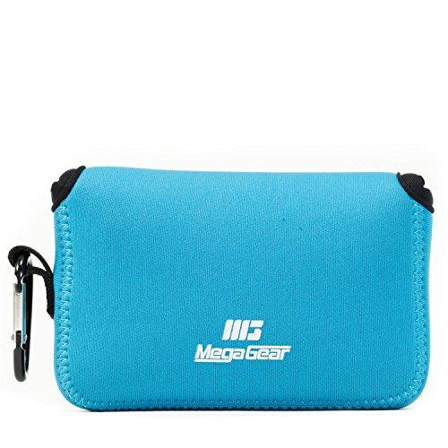 MegaGear Halteschnur Ultra Light Neopren Fall mit Karabiner für Canon PowerShot G1X Mark III Kamera-Blau