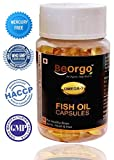 #5: BeOrgo Fish Oil Capsule 1000 mg (EPA-180mg DHA-120 mg) || Omega 3 60 Soft Gel Capsules || Omega 3 Fish Oil Mercury Free || Highly Purified Natural Fish Oil