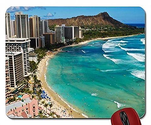 Waikiki Beach wallpaper mouse pad computer mousepad (Beach Pad)