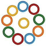 Hosaire 10PCS Non-Toxic Anti Mosquito Pest Insect Bugs Repellent Wrist Bands Bracelet (Random Color)