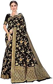 CLOTHAM Women's Banarasi Art Silk Saree With Blouse P