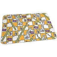 Snakes Ladders Board Game Mat Cool Girls Urinal Mats Carpet 40 * 60 Cm