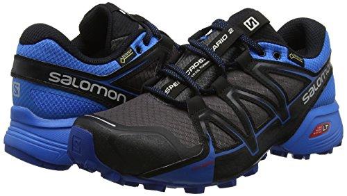 Salomon Homme Speedcross Vario 2 GTX Chaussures de Course à Pied et Trail Running, Synthétique/Textile, Gris, Pointure Gris (Magnet/indigo Bunting/black)