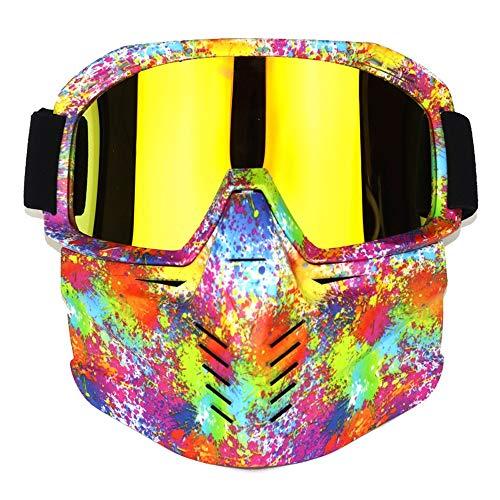 Yiph-Sunglass Sonnenbrillen Mode Anti-Fog-Windproof-Motorrad-Schutzbrille Vollmaske Ideal für das Fahren mit dem Schneemobil (Color : 8, Size : One Size)