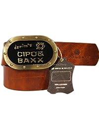 Cipo & Baxx Gürtel Herren Echt Leder-Gürtel aus Rindsleder C-2092