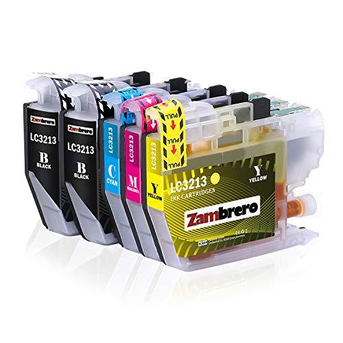 Zambrero LC-3213 Patronen Ersatz für Brother LC3213 LC3211 Druckerpatronen Kompatibel mit Brother DCP-J572DW MFC-J497DW MFC-J890DW MFC-J895DW MFC-J491DW DCP-J772DW DCP-J774DW DCP-J572 MFC-J497
