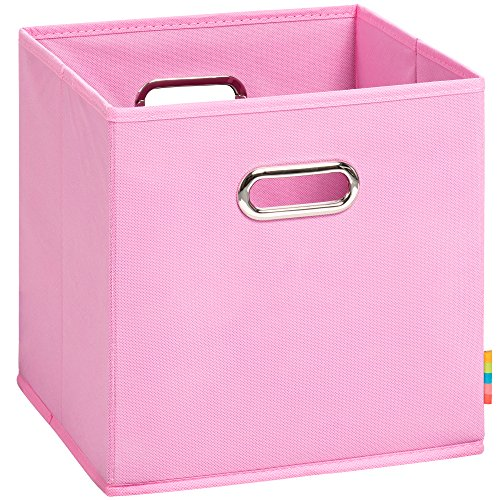 Schmetsdorf (H&S) Aufbewahrungsbox MIA - Faltbox - Korb - 28x28x28 cm - (Rosa)