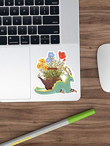 Jasmine Tea Dragon Sticker Vinyl Decal for Cars, Trucks, Water Bottle, Fridge, Laptops (Longest Side 8