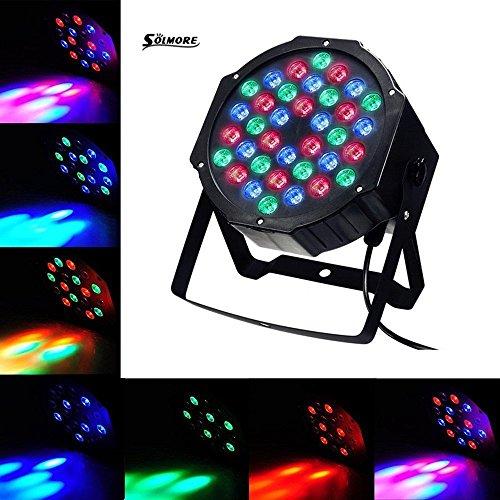 LED PAR, SOLMORE 36W Disco Lichteffekte Party Bühnenbeleuchtung 36LEDs Par Licht DJ Strobe Light Strahler DMX Scheinwerfer Discolicht Discokugel Proj