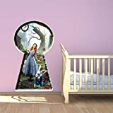 Wall Smart Designs Alice im Wunderland Full Farbe Wandtattoo Aufkleber Mural Kids Schlafzimmer Transfer Print Graphic