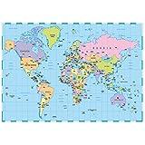 A2130gsm Papel de impresión de mapa del mundo Atlas Stock