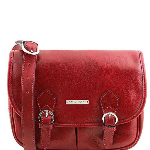 Tuscany Leather Giulia - Sac bandoulière en cuir avec rabat - TL141481 (Noir) Rouge