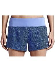 """Nike Zen 3"""" Rival Short - Pantalón corto para mujer, color azul / plateado, talla M"""