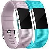 HUMENN Bracelet pour Fitbit Charge 2, Bande en TPU Silicone Souple de Remplacement...