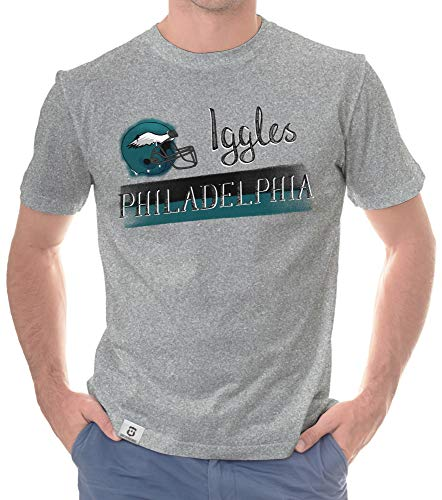 Shirtdepartment - Herren T-Shirt - Iggles - Philadelphia hellgrau-grün 5XL