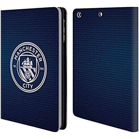 Ufficiale Manchester City Man City FC Ossidiana mattonella bianco mono Badge Pixel Cover a portafoglio in pelle per Apple iPad mini 1 / 2 / 3
