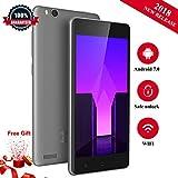 Günstiges Handy Ohne Vertrag, Ken V6 Dual SIM Mobile Phone 3G Android 7.0 Smartphone (4,5 Zoll Display, 8GB Interner Speicher Mini-Telefon) - Grau