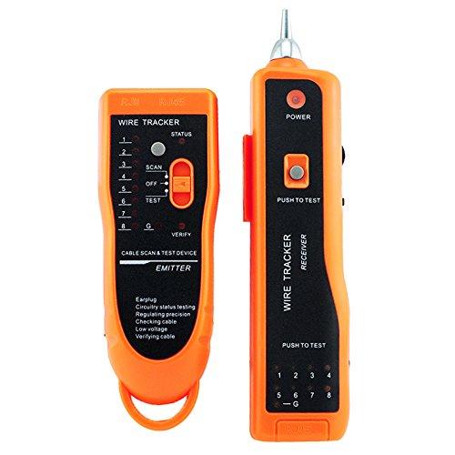 carejoy Utility Handheld xq-350RJ45RJ11Cat5Cat6LAN Kabel Tester Telefon Draht Tracker Line Netzwerk LAN Ethernet Scanning Detektor Telefon Generator Diagnose Tool Kit (Cat6 Festes Kabel)